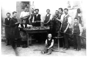 Ślusarze zrzeszeni w Spółce Ślusarskiej, 1889 rok