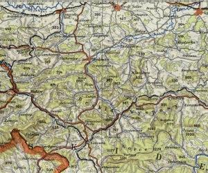Vogels. Karte von Mitteleuropa (1943 r.)