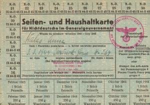 Kartki wojenne na mydło dla Nie-Niemców z GG