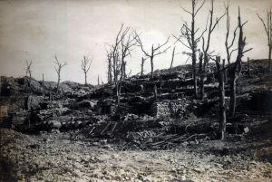 Zdobyte włoskie okopy nad Isonzo.